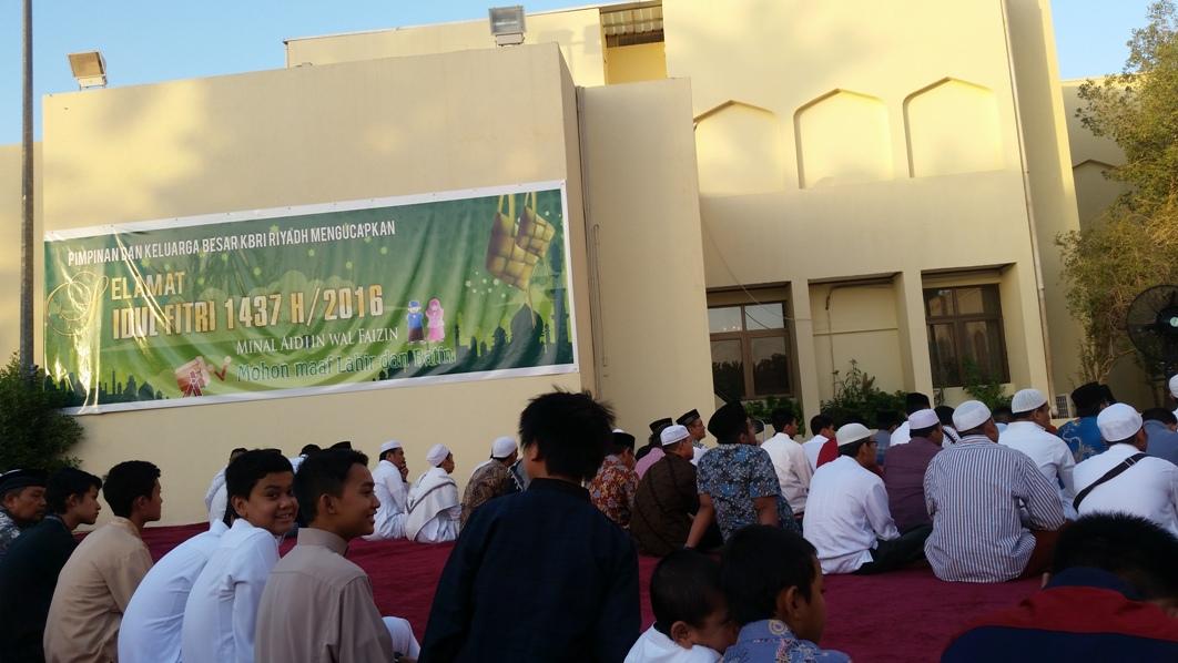 lebaran di KBRI Riyadh